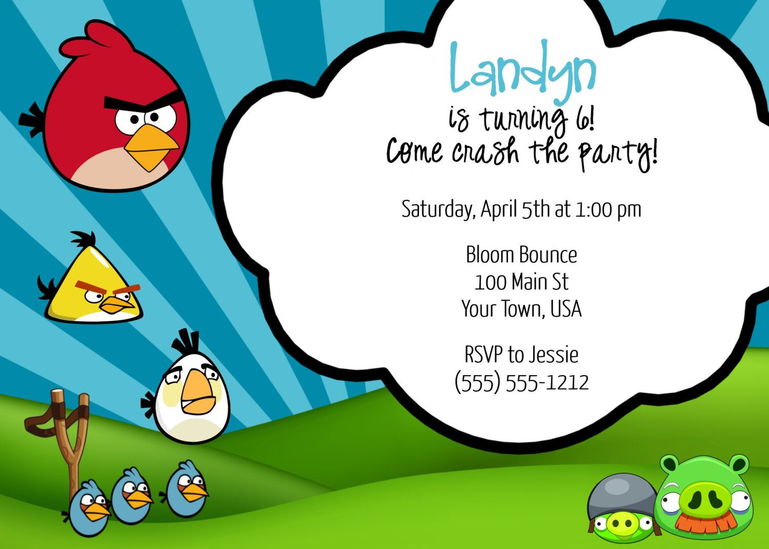 Angry Birds Invitation by Twenty9Designs on Etsy | Angry Bird Party ...