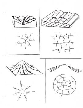 Drainage Patterns (Stream trellis Dendritic)   Worksheets and ...