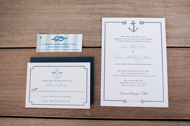 Nautical Navy and Aqua Wedding Invitations // Photographer: Katie Nesbitt Photography / Planning & Design: Antonia Christianson Events // see more: http://theeverylastdetail.com/2013/09/02/nautical-eclectic-navy-and-aqua-wedding/