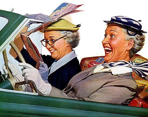 """Résultat de recherche d'images pour """"Bonne journée vieille dame  norman rockelle"""""""