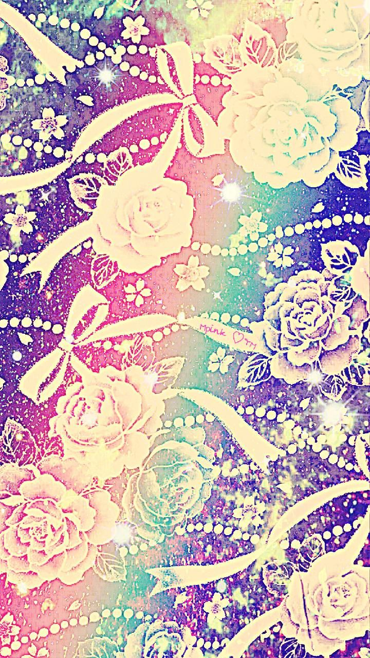 Rainbow Roses Galaxy Wallpaper Androidwallpaper Iphonewallpaper
