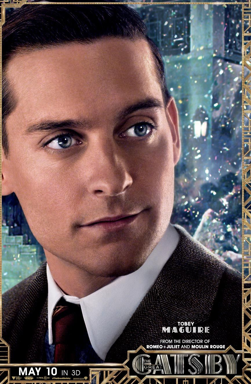 Nick Carraway The Story Teller And The Keeper Of All Secrets In The Great Gatsby The Great Gatsby Movie The Great Gatsby 2013 Gatsby Movie