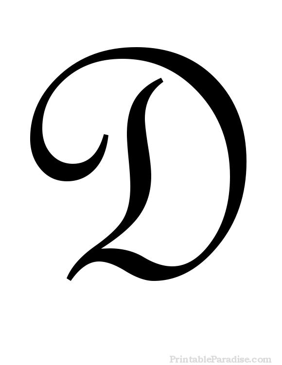 Capital Cursive D : capital, cursive, Printable, Letter, Cursive, Writing, Letters, Fancy,, Letters,, Lettering, Alphabet