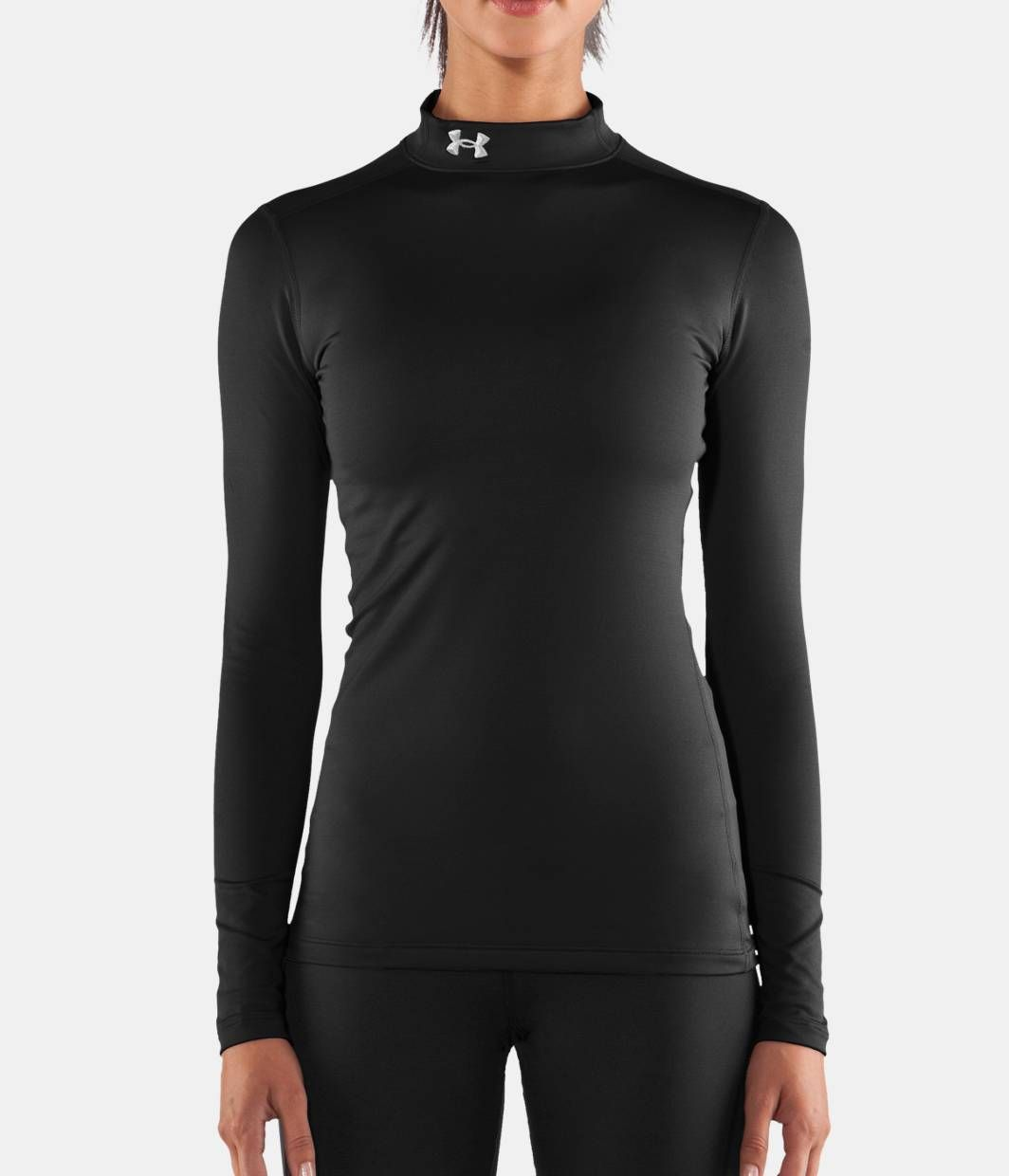 Cheap Under Armour Coldgear Compression Long Sleeve Mock Top Womens Black Online Store