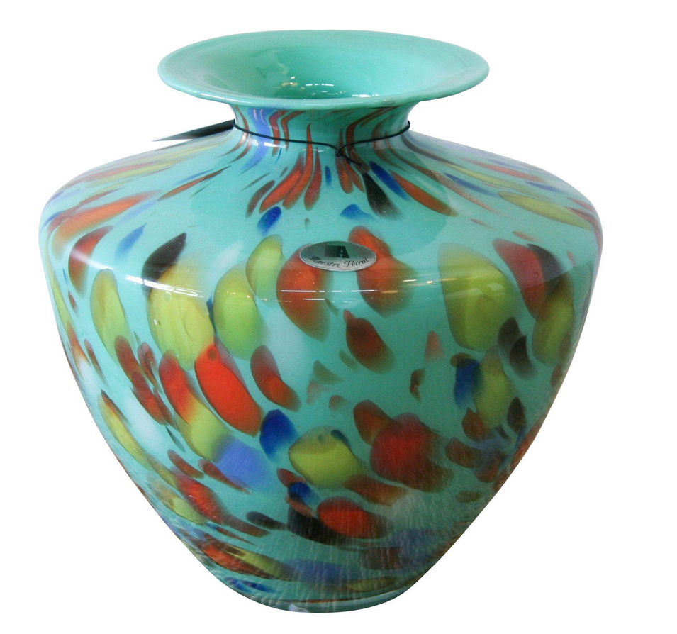 Vintage murano glass turquoise vase studio lane at reposed ny vintage murano glass turquoise vase studio lane at reposed ny vintage home decor reviewsmspy