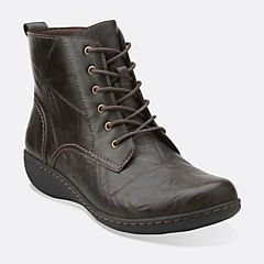 Womens Boots Clarks Fianna Holly Black Leather