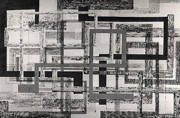 Daybreak  Artist:Irene Rice Pereira (American, Chelsea, Massachusetts 1907–1971 Marbella) Date:1952 Medium:Oil on canvas Dimensions:40 x 60 in.