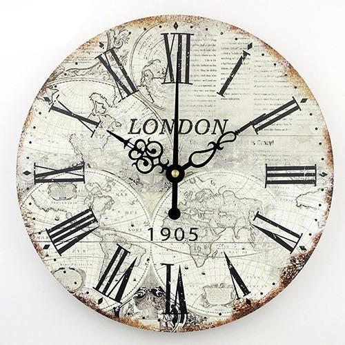 Large Decorative World Map Wall Clock Clockscoin Op Pinterest - Large decorative maps