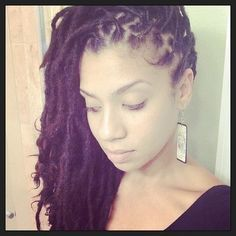 """""""comb over"""" for medium length locs  natural hair styles"""