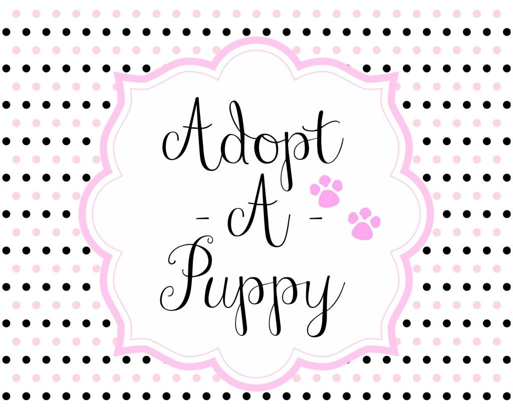 Free Adopt A Puppy Party Printable Set Free Puppyparty  Puppy