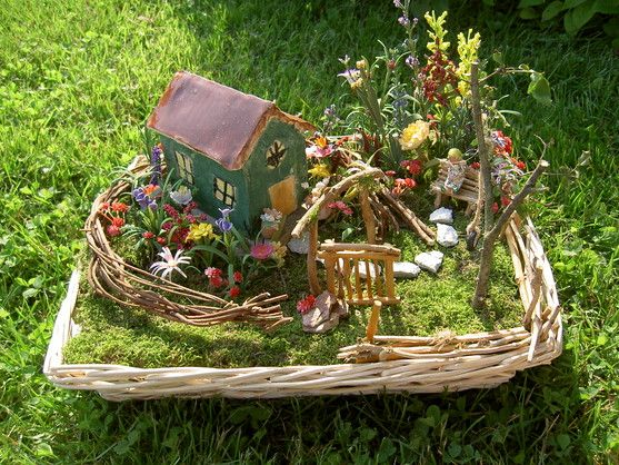 Outdoor Fairy House Kit And Paint