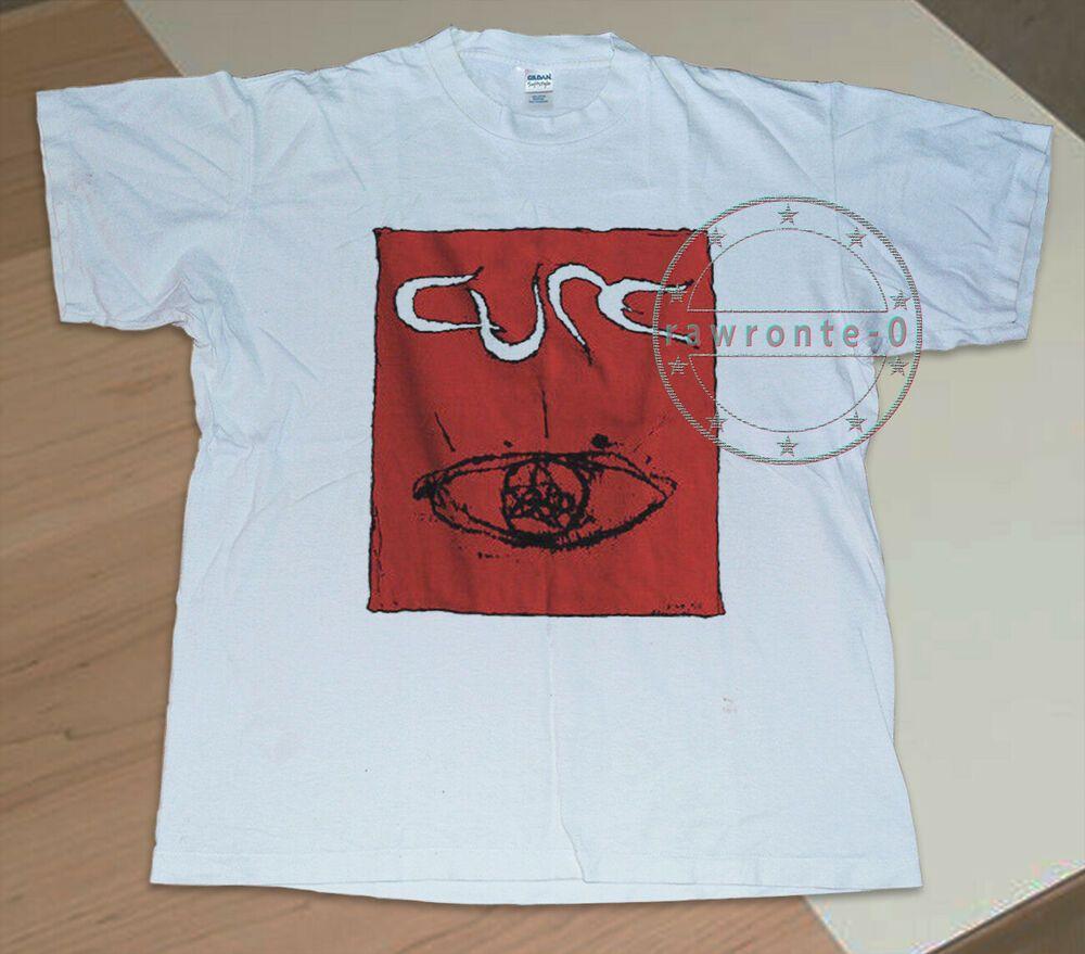 Vintage The Cure Head On The Door Tour T-Shirt gildan usa reprint