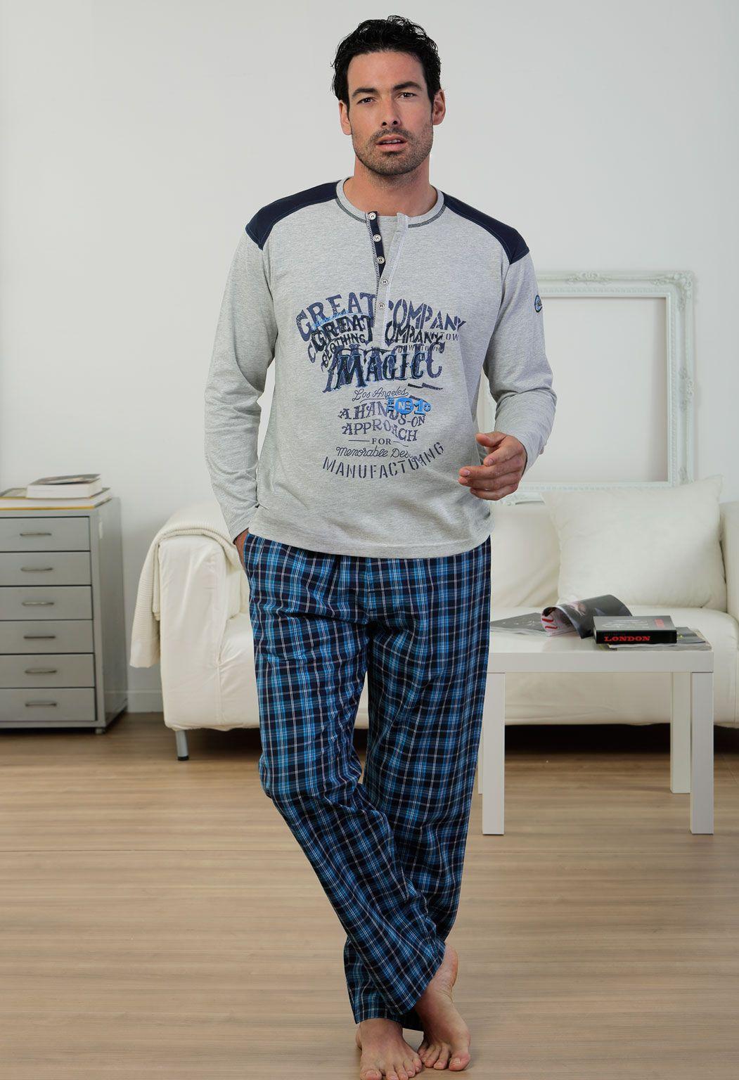 Pijama invierno hombre Massana modelo Los Angeles