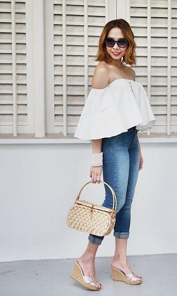 off shoulder top eightslate denim singapore fashion blog
