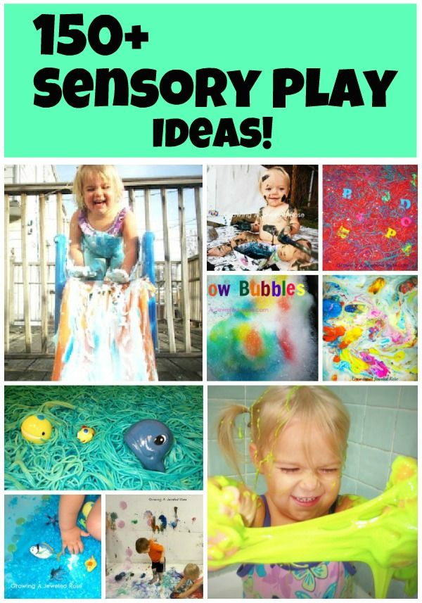 150+ Sensory Play Ideas can be found here, and new playtimes are added weekly! So many FUN and creative ideas here!