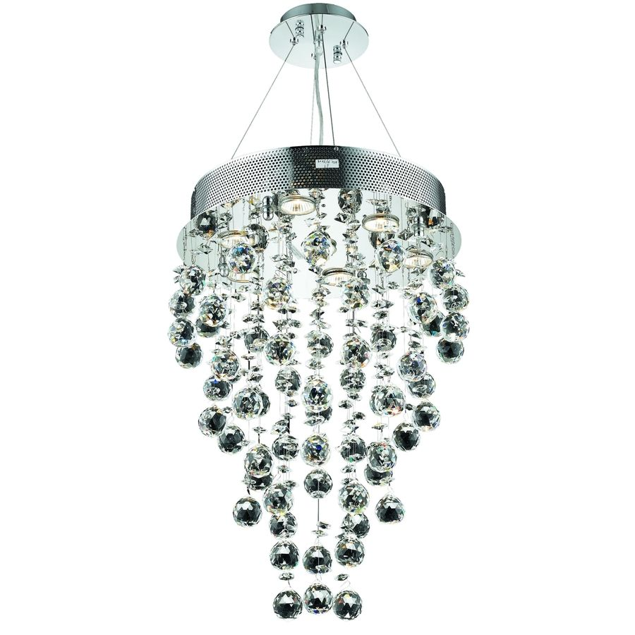 Elegant Lighting Galaxy 2006 Hanging Fixture Chrome Finish As Shown