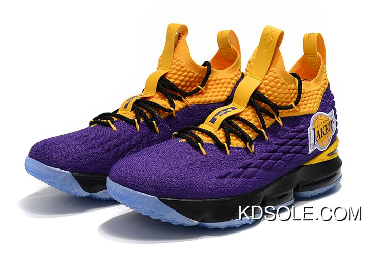 newest db8c5 35b31 New Year Deals Nike LeBron 15 'Lakers' Purple Yellow in 2019 ...
