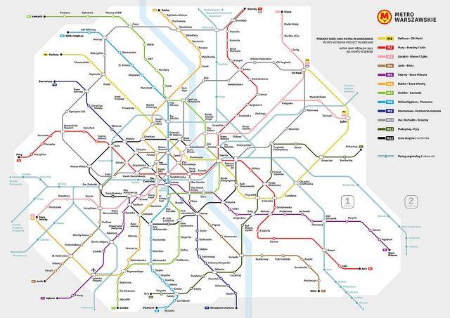 Metro in Warsaw 23rd Century