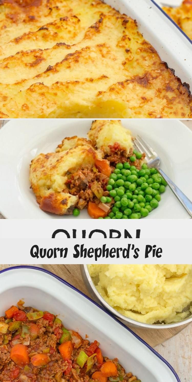 This shepherds pie uses quorn mince so that its suitable for.