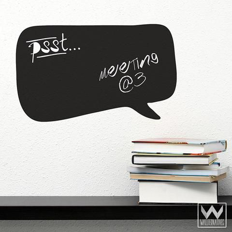 L And Stick Thought Bubble Chalkboard Vinyl Wall Decals For Writing Wallternatives