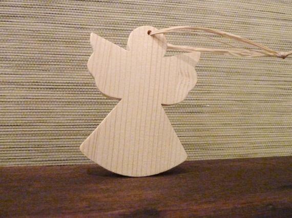 Figurines pour sapin de no l accrocher d coration de noel en bois brut d cor de no l naturel - Ange pour pointe de sapin ...