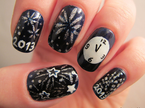 Happy New Year! Celebration Nails - Happy New Year! Celebration Nails New Year Nails Pinterest