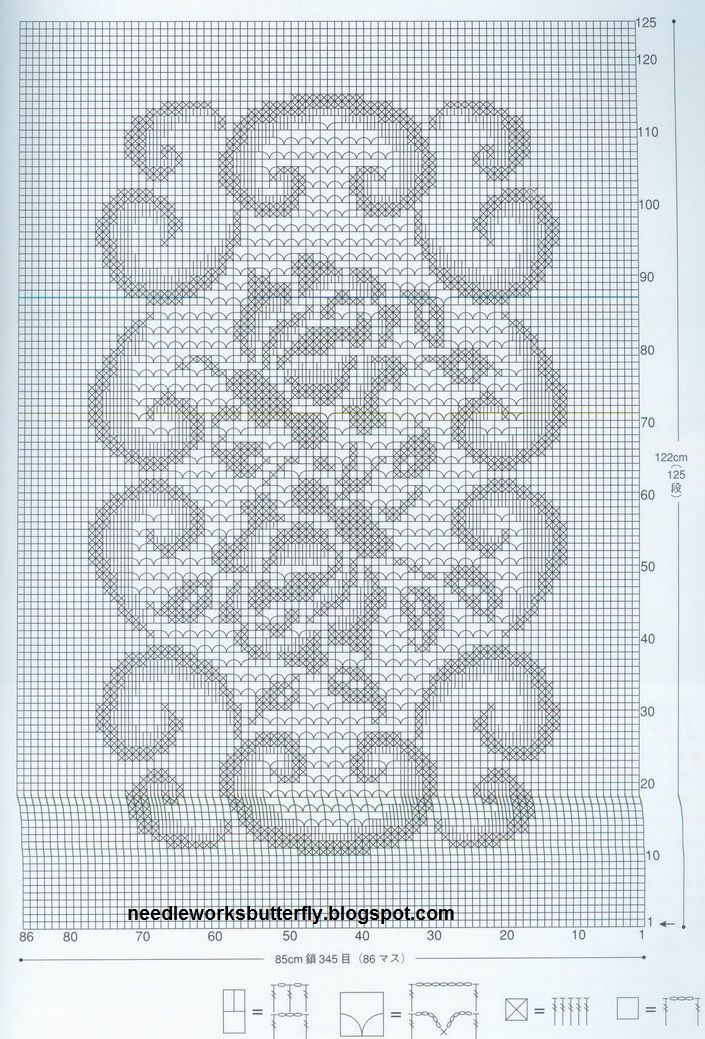 Needle-Works Butterfly: Filet Crochet Doilies With Patterns ...