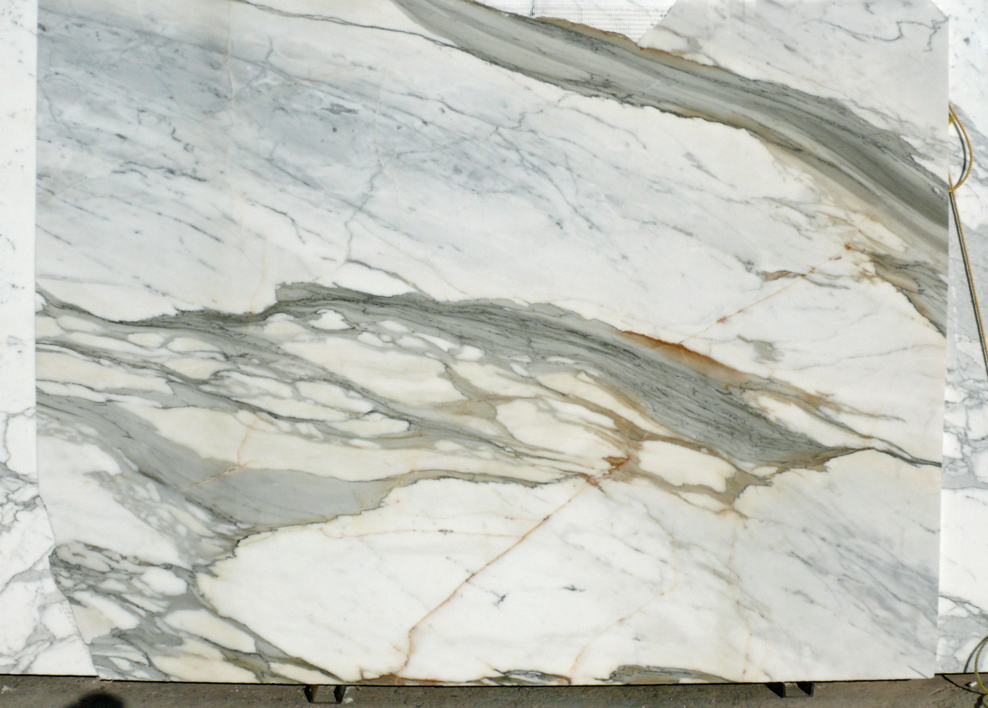 Calacatta Gold Select Marble Slab White Polished Italy Fox