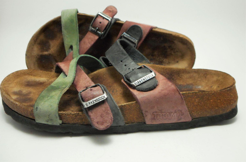 f87492d042114 Vintage Birkenstock Tatami Sandals Size 38 Two Buckles Green