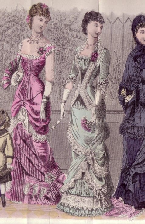 e30c5275474c Evening and dinner dresses, 1880 US, Godey's Lady's Book ...