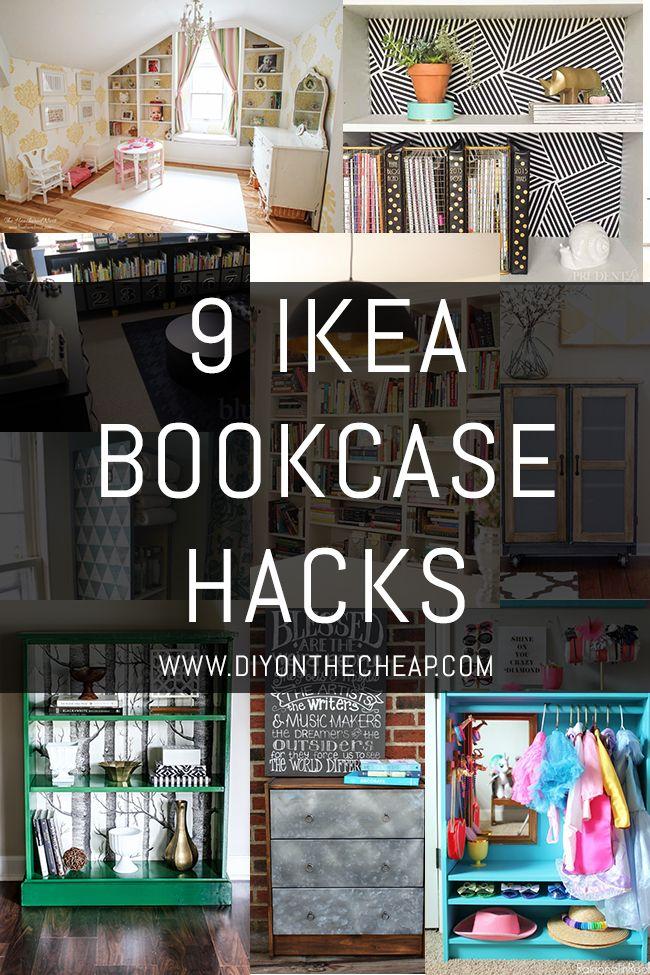 9 ikea bookcase hacks pinterest ikea diy m bel und b cherregale. Black Bedroom Furniture Sets. Home Design Ideas