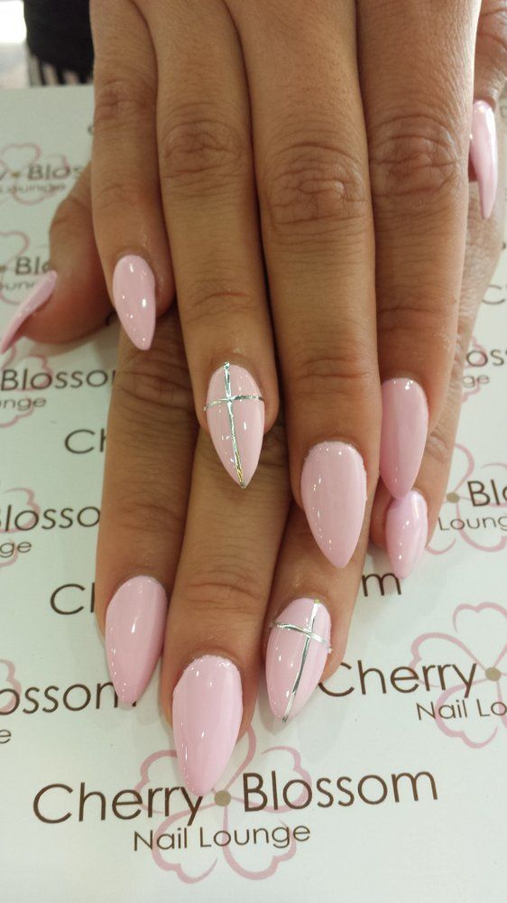 Nails Designs With Crosses Easynails Xyz Baby Pink Nails Cross Nails Pink Gel Nails Designs