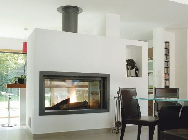 les chemin es structurent l 39 espace elle d coration id es d co maison pinterest du feu. Black Bedroom Furniture Sets. Home Design Ideas