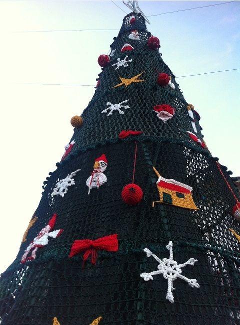 Crochet Christmas Tree Detail Vila Nova De Cerveira Portugal