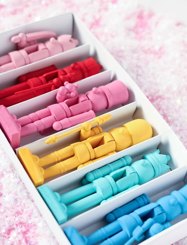 DIY Colorful Holiday Nutcrackers