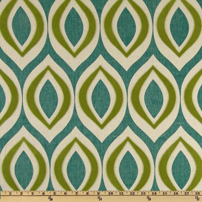 Tacking Fabric On A Accent Wall: Home Accents Arabesque Flocked Seabreeze Teal