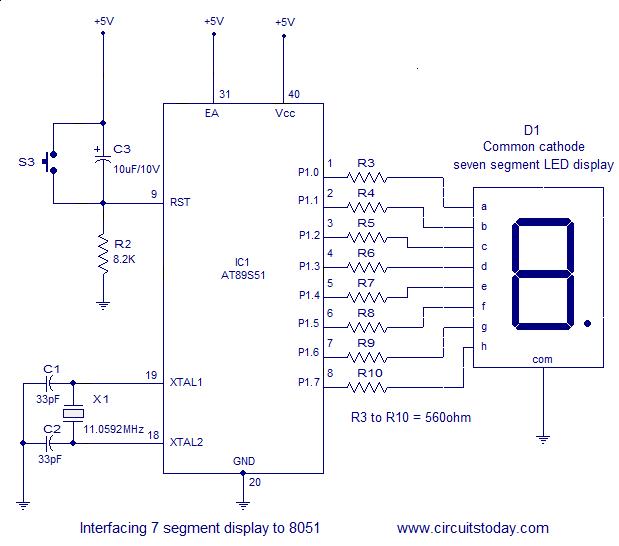 Interfacing 7 Segment Display To 8051 Micro Controller