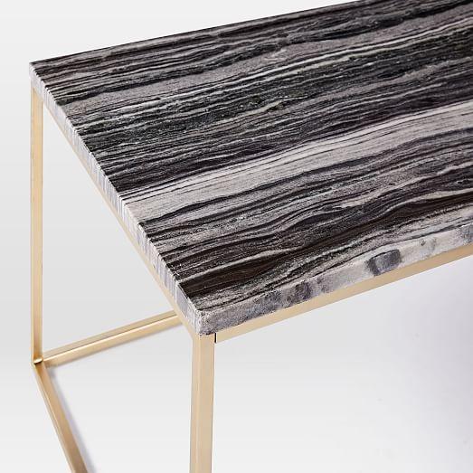 Mira Coffee Table Black Marble West Elm