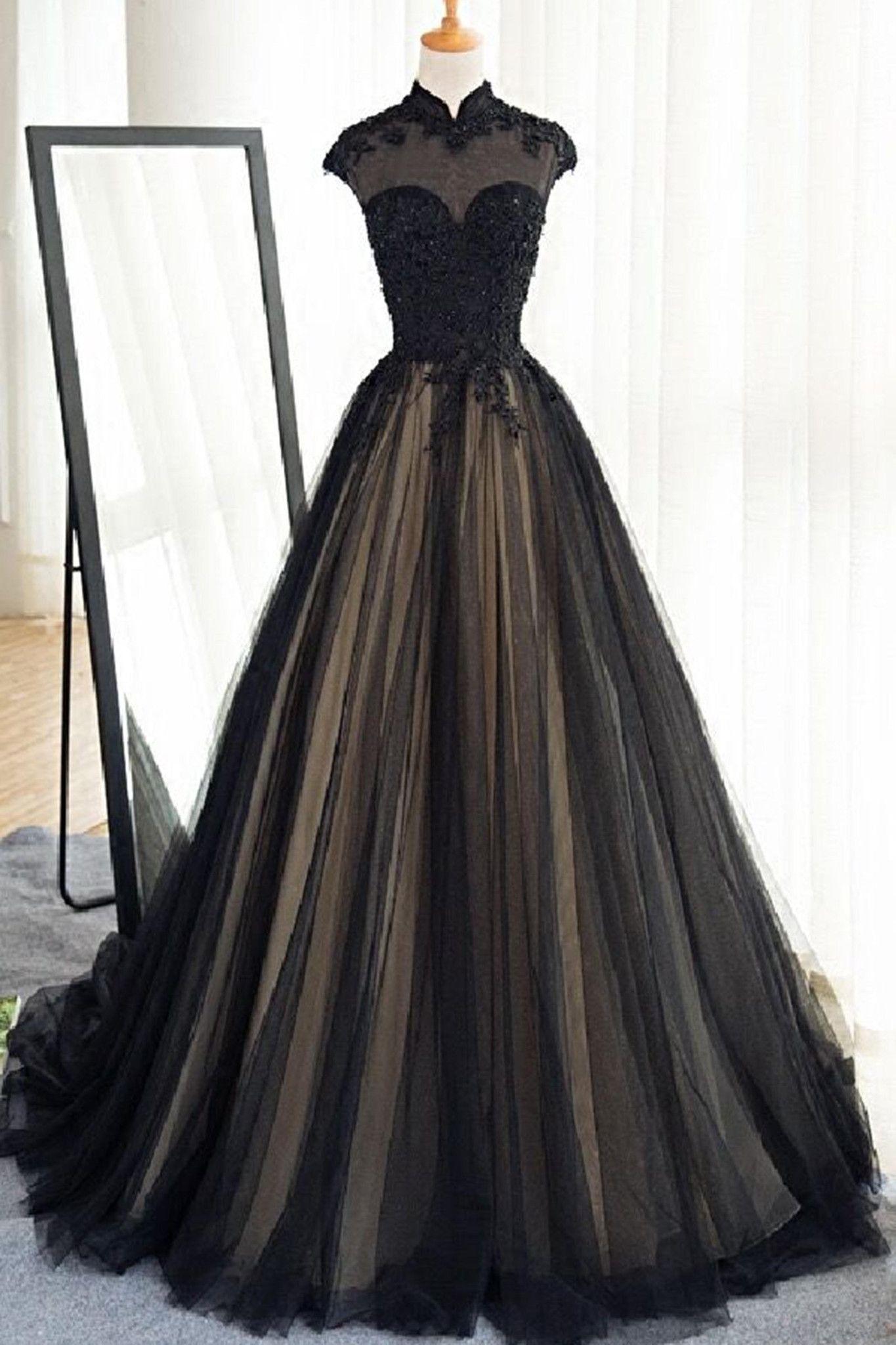 schön ballkleid schwarz lang boutique | ballkleid
