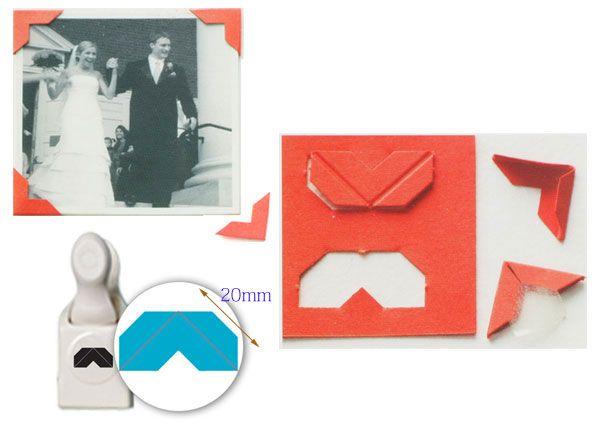 Paper Craft Martha Stewart Photo Corner Punch 1pc Id16353