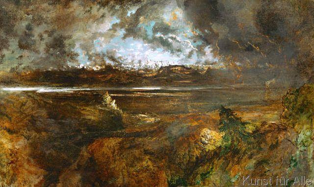 Pierre Etienne Théodore Rousseau - Le Mont Blanc vue de la Faucille, effet de Orage