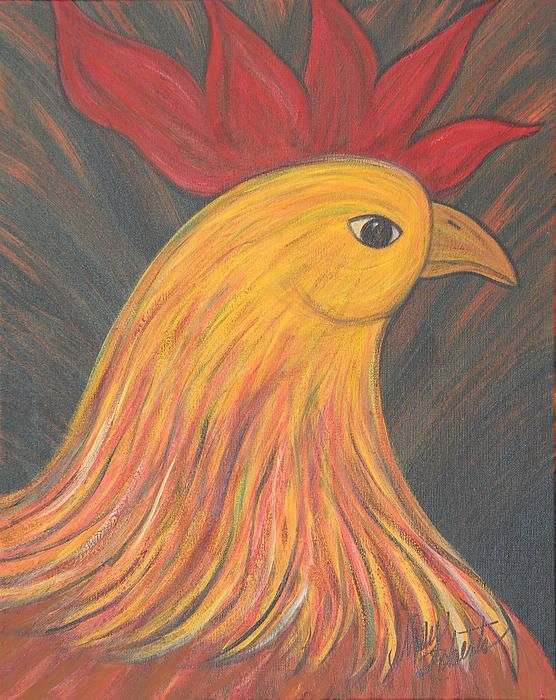 Apparently, Roberts' love of roosters wrapped around one she called Romeo. A number of her rooster paintings are various poses of her Romeo, who is - I'm told - in rooster heaven now.