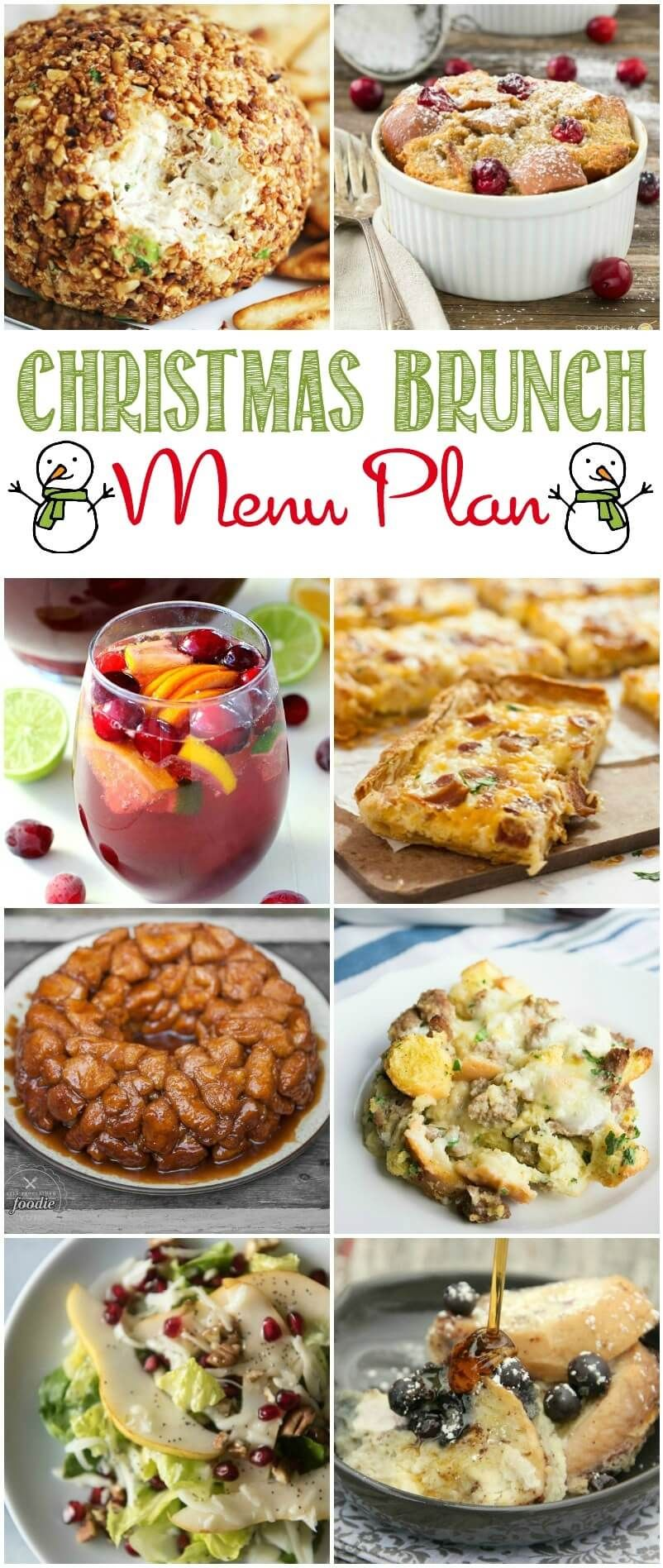 easy christmas brunch recipes and menu plan menuplan holidays christmas recipes