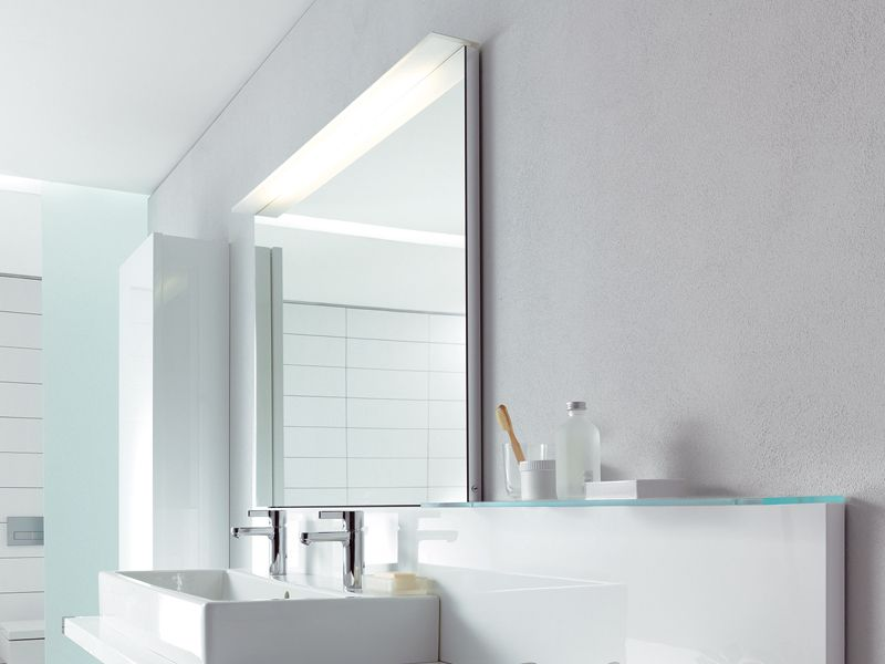 Delightful Duravit Delos Vanity In White. Bathroom Mirror ...