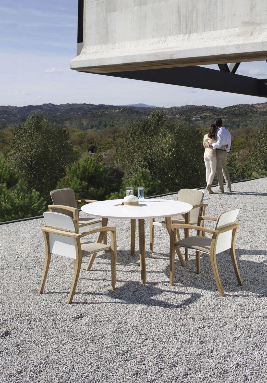 tavolo rotondo da giardino moderno - zidizkris van puyvelde