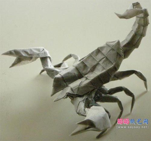 蝎子折纸图解教程 高级教程 折り紙 作品 竹尾 折り紙