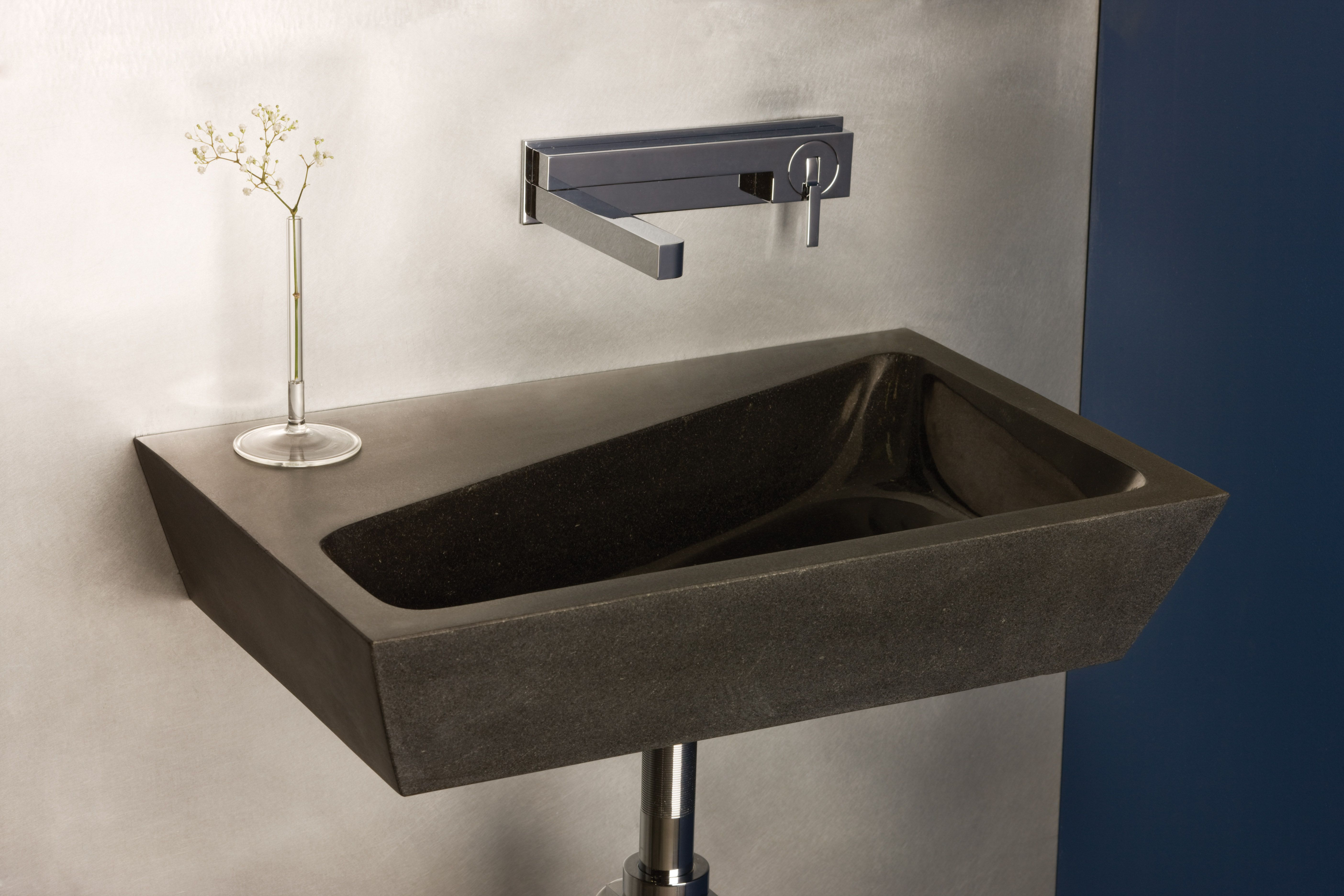 The New Stone Forest 2tone Wall Mount Sink Derives Its Name From The Two Finishes That Adorn The