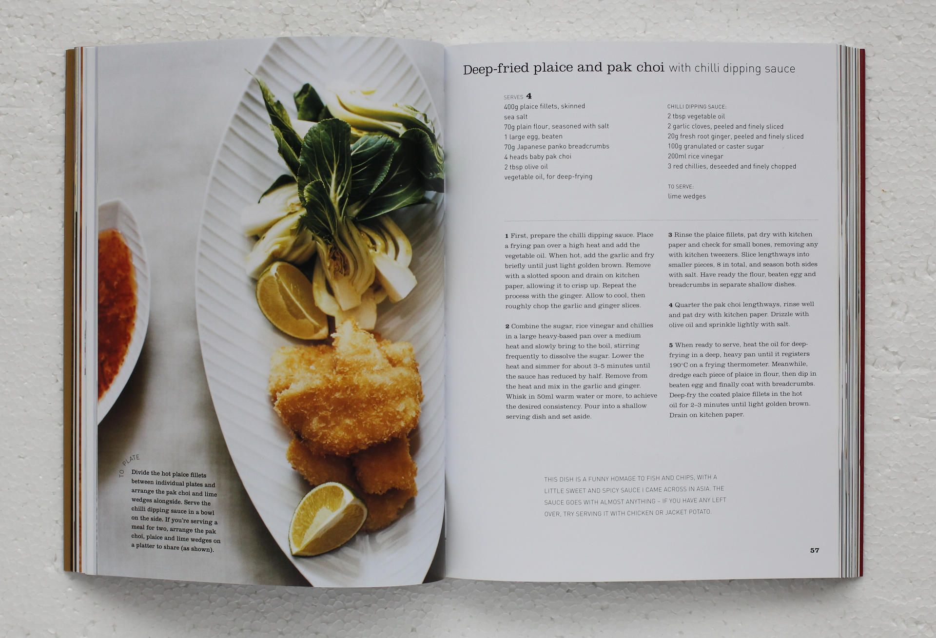 Gourmet food for a fiver deep fried plaice and pak choi recipe gourmet food for a fiver deep fried plaice and pak choi recipe book forumfinder Choice Image