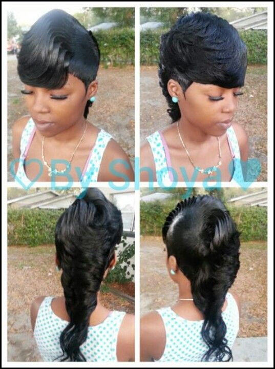 Mohawk With Weave 27 Piece : mohawk, weave, piece, Mohawk, Quick, Weave, Hairstyles,, Short, Sassy, Hair,