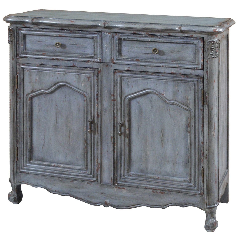 Crestview Harrison Distressed Grey 2 Door Cabinets ...